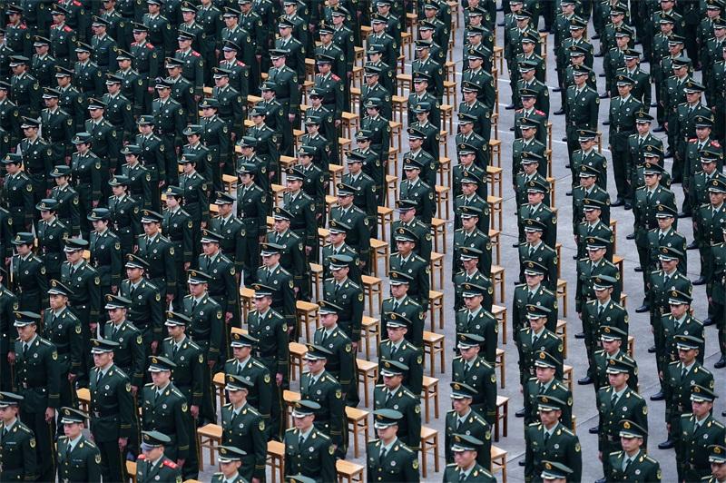 全国海警入警大学生在广州集训(摄影:姜宗平)